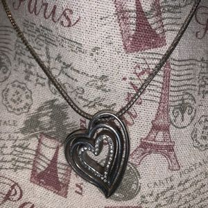 Brighton heart layered necklace with crystals